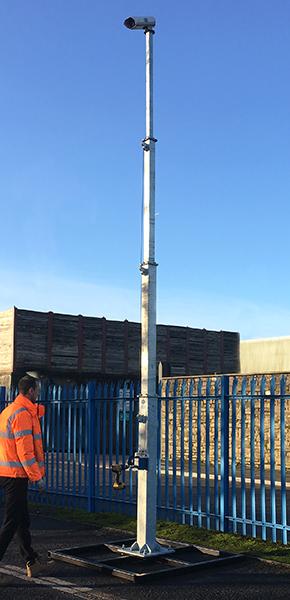 Telescopic Camera Pole | WEC CCTV
